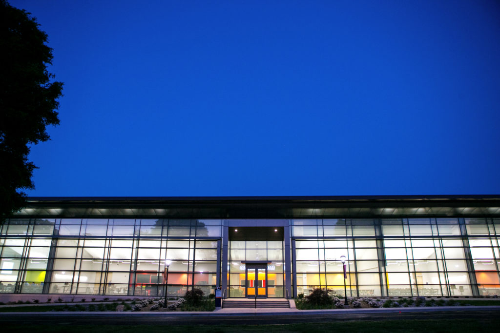 C Building Exterior Night
